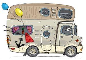 Camper cartoon ok