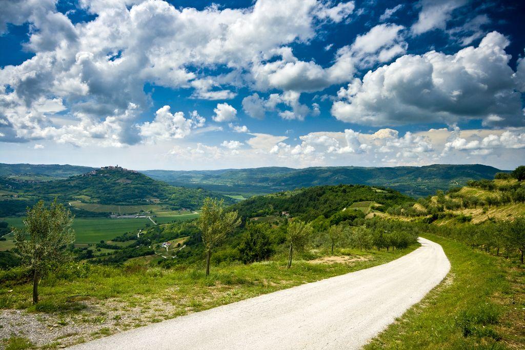 Via panoramica a Motovun