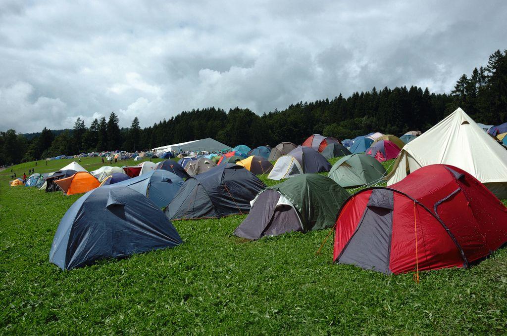 Un gruppo di tente