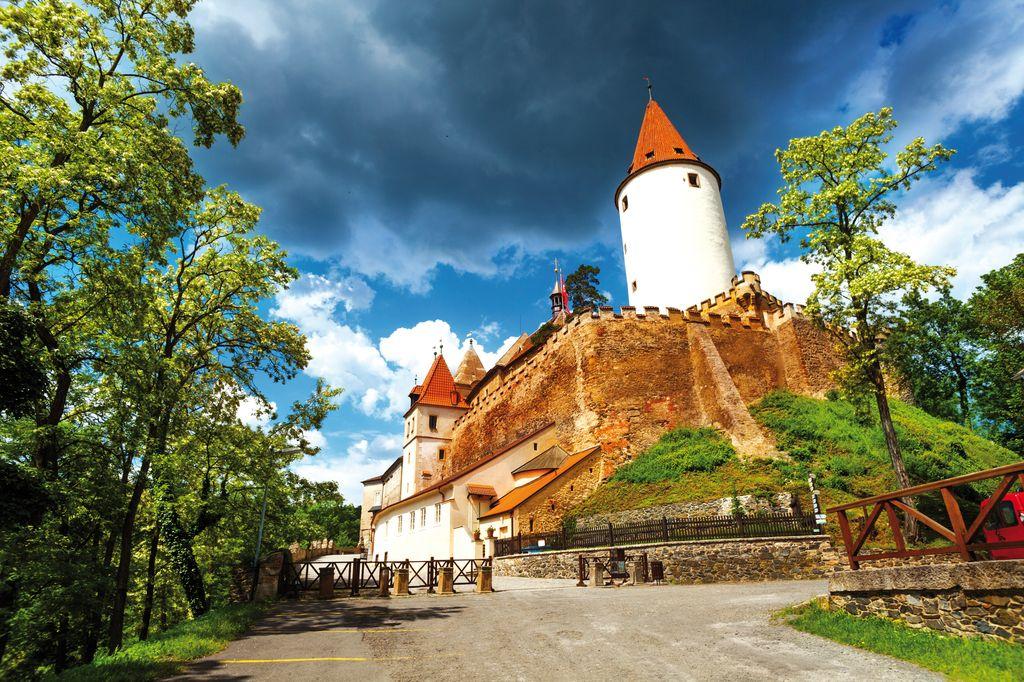 le mura a fortificazione del Castello di Krivoklat