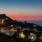 Ponza, vista notturna dell'isola