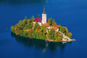 L'isola di Beld con la Chiesa di S. Maria Assunta