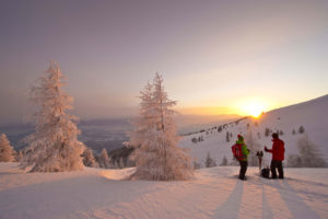 carinzia_tramonto_su_neve