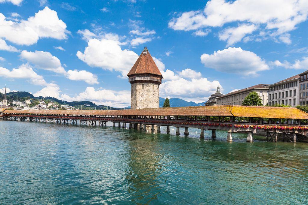 Il Ponte della Cappella a Lucerna, Svizzera