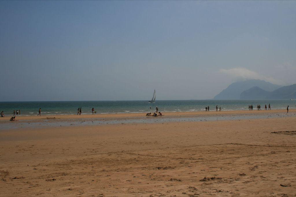 Laredo, panoramica sulla spiaggia