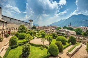 Il giardino del Castello del Buonconsiglio a Trento