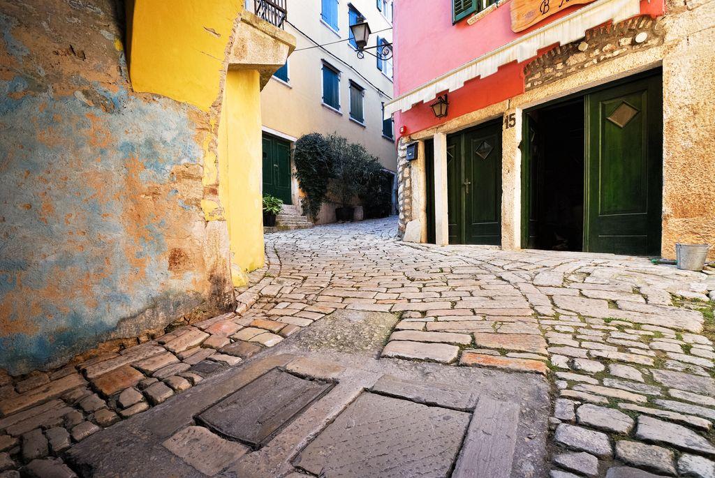 La pavimentazione a Rovigno