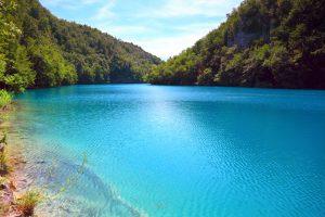 Vista sui laghi di Plitvice