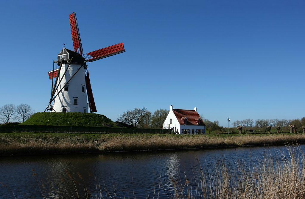 un mulino vicino a Brugge