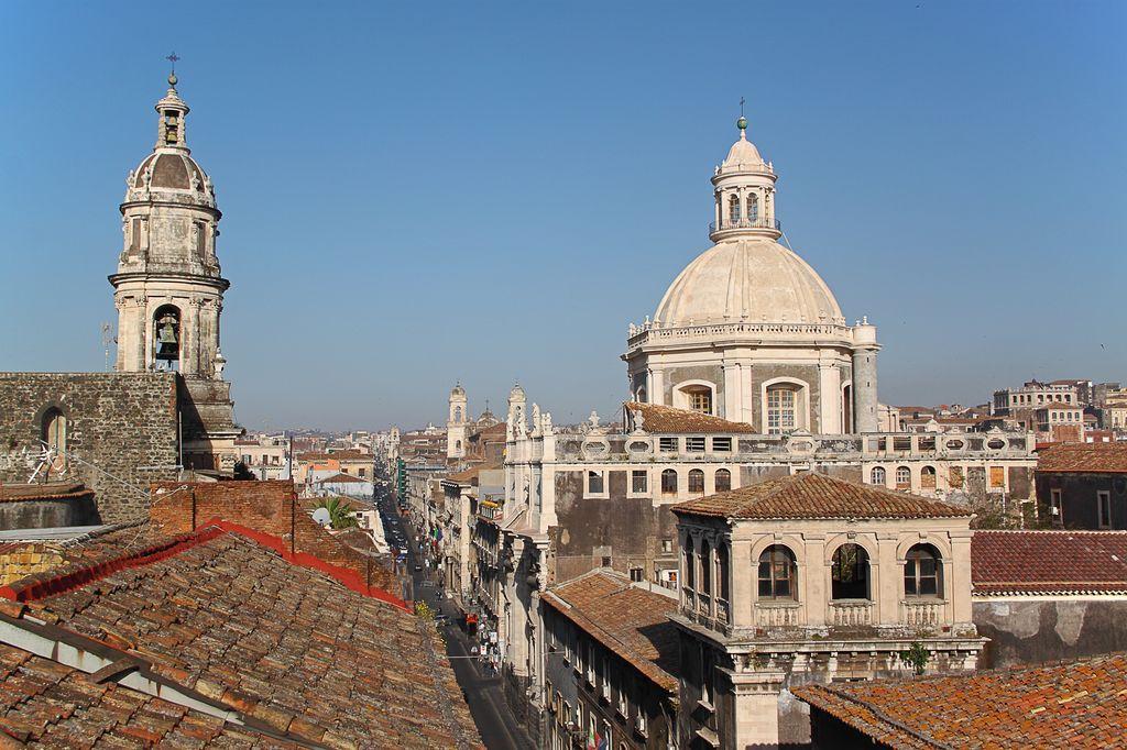 Catania, vista della cattedrale