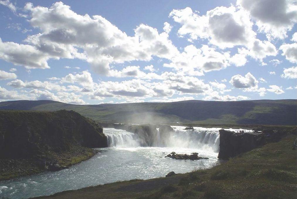 Le cascate di Godafoss