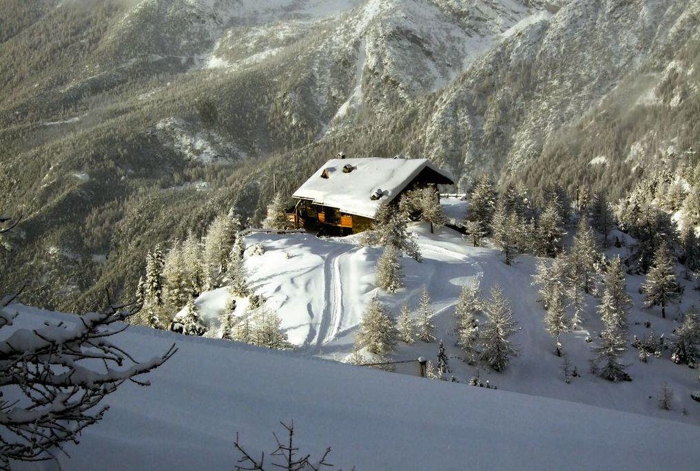 Il rifugio Motta a quota 2.180 metri