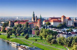 Polonia, panoramica su Cracovia