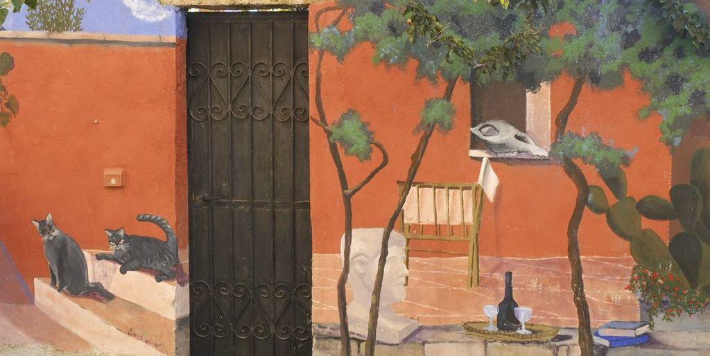 Bosa, particolare dipinto per le vie del centro