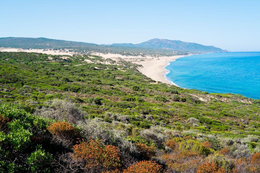 Panoramica della Spiaggia di Piscinas
