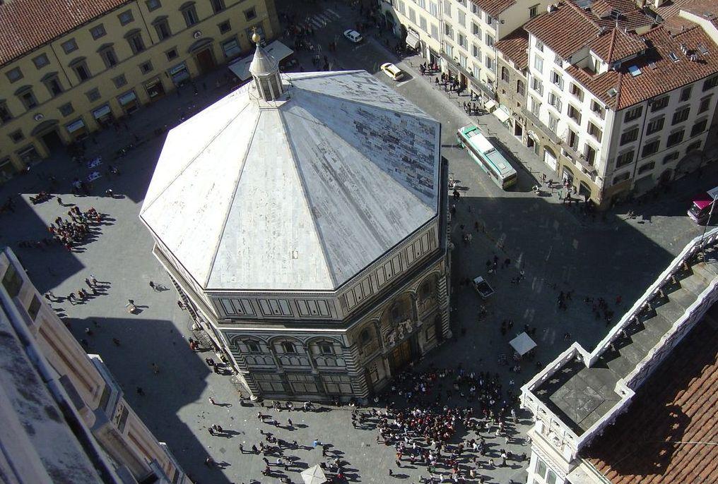 Firenze, Il Battistero visto dll'alto