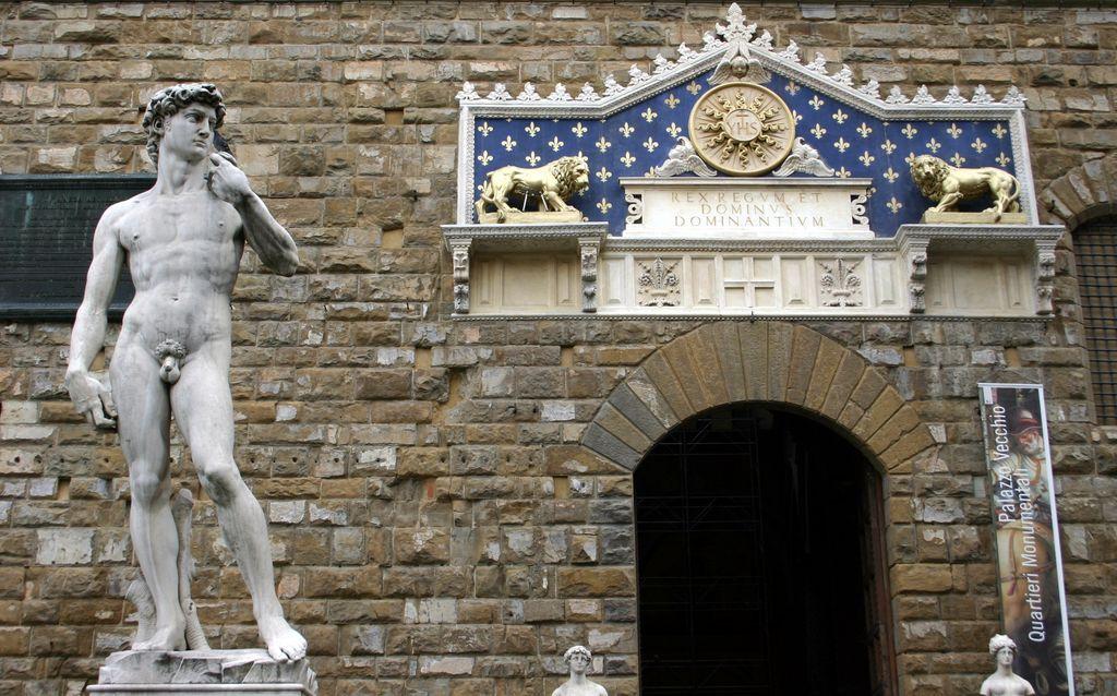 Firenze, Palazzo Vecchio, il David di Michelangelo