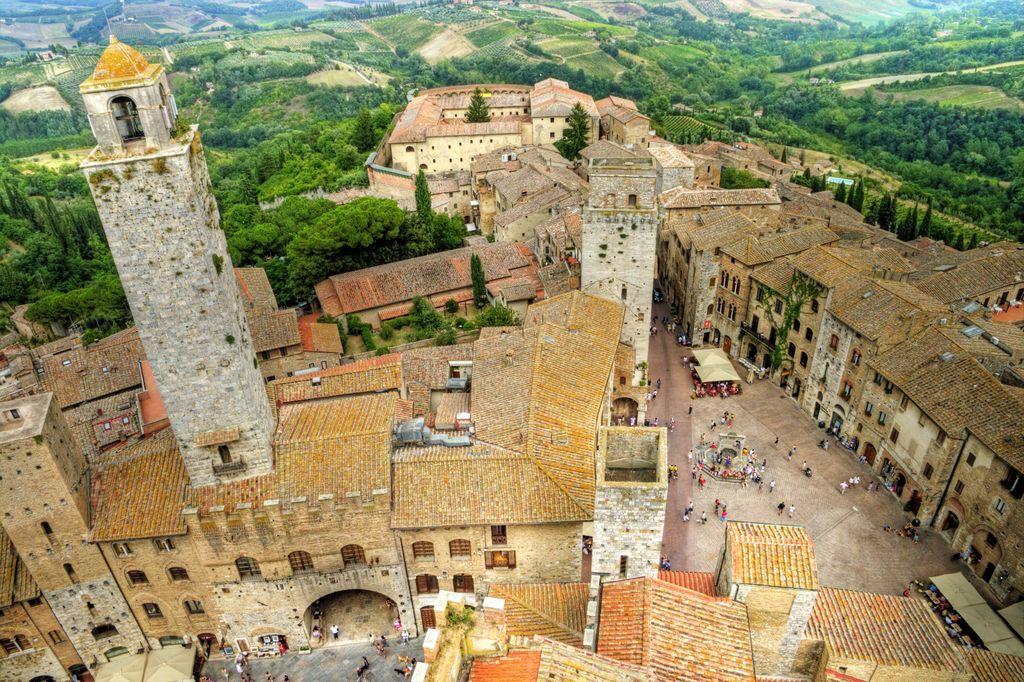 San Gimignano vista dall'alto