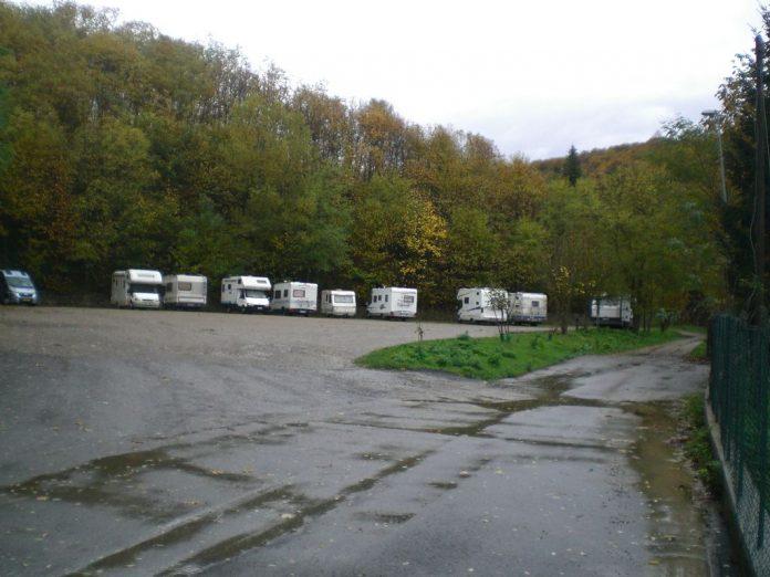 Area sosta Santa Fiora in Camper - Santa Fiora (GR)