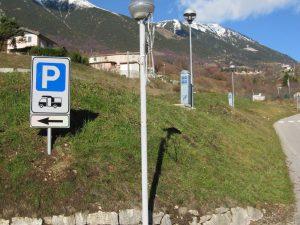 Area sosta Ferrara di Monte Baldo