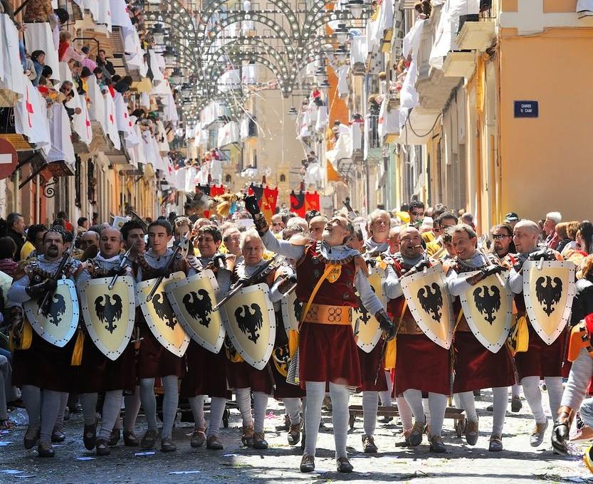 Itinerario in Spagna per raggiungere la Fiesta di Alcoy