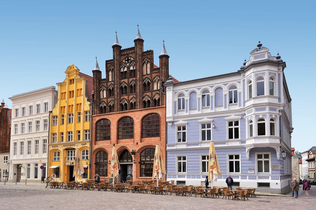 I palazzi tipici di Stralsund