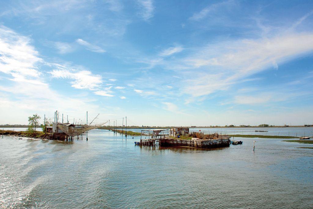 Pesca nella laguna di Comacchio