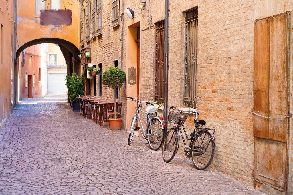 Strada medievale nel centro storico