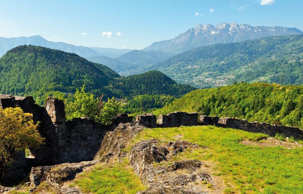 Veduta dal castello di Pergine
