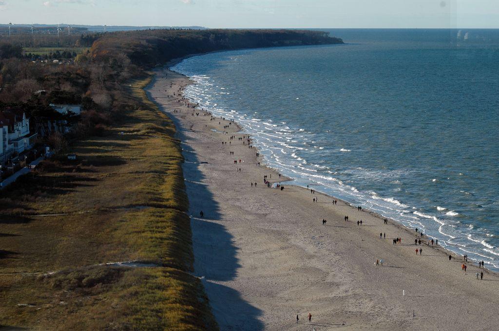Vista sulla spiaggia di Rostock
