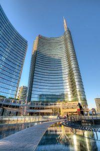 Milano, quartiere Porta Nuova e la Torre quadrata Gae Aulenti