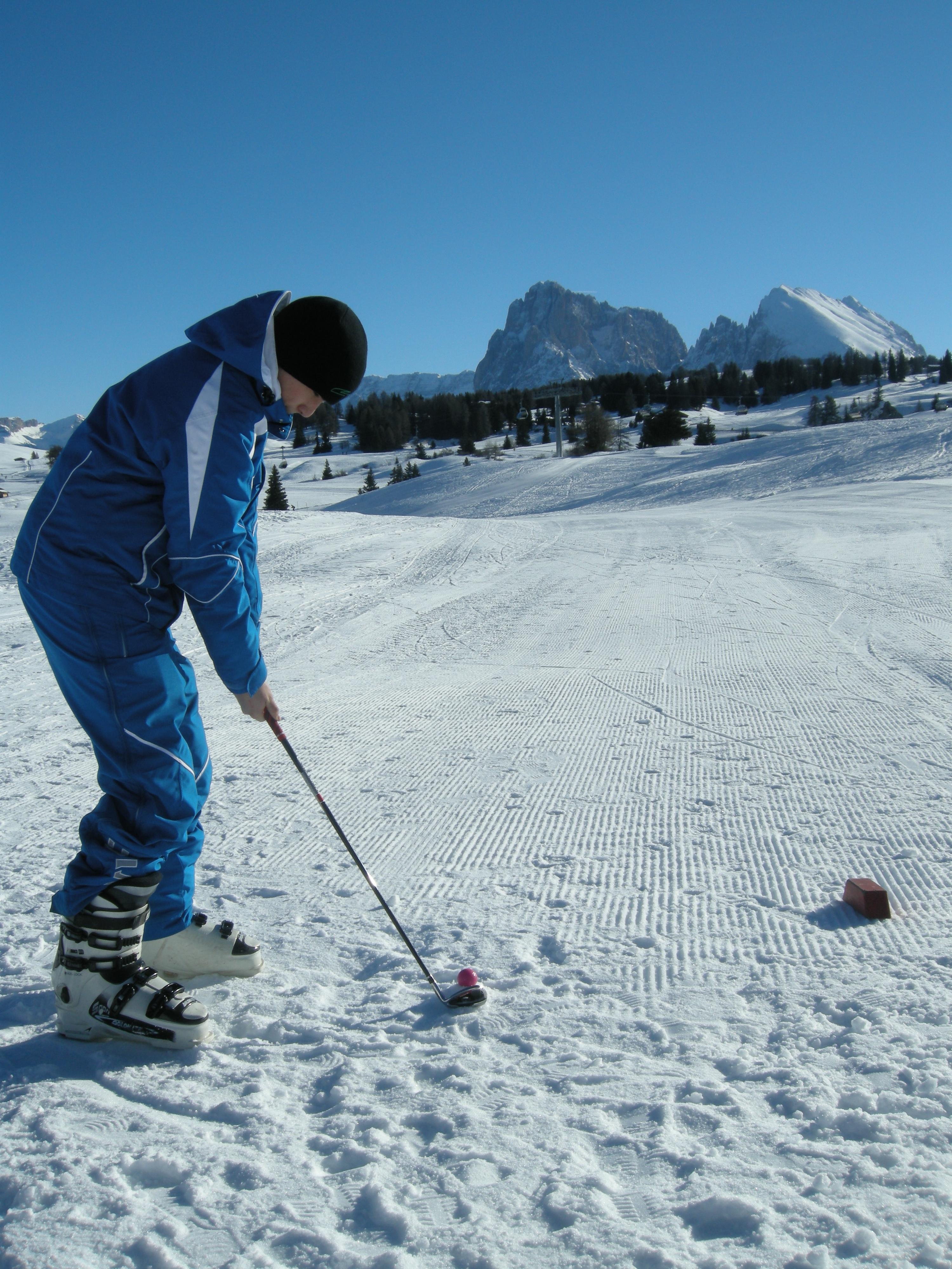 Alpe di Siusi Golf sulla neve