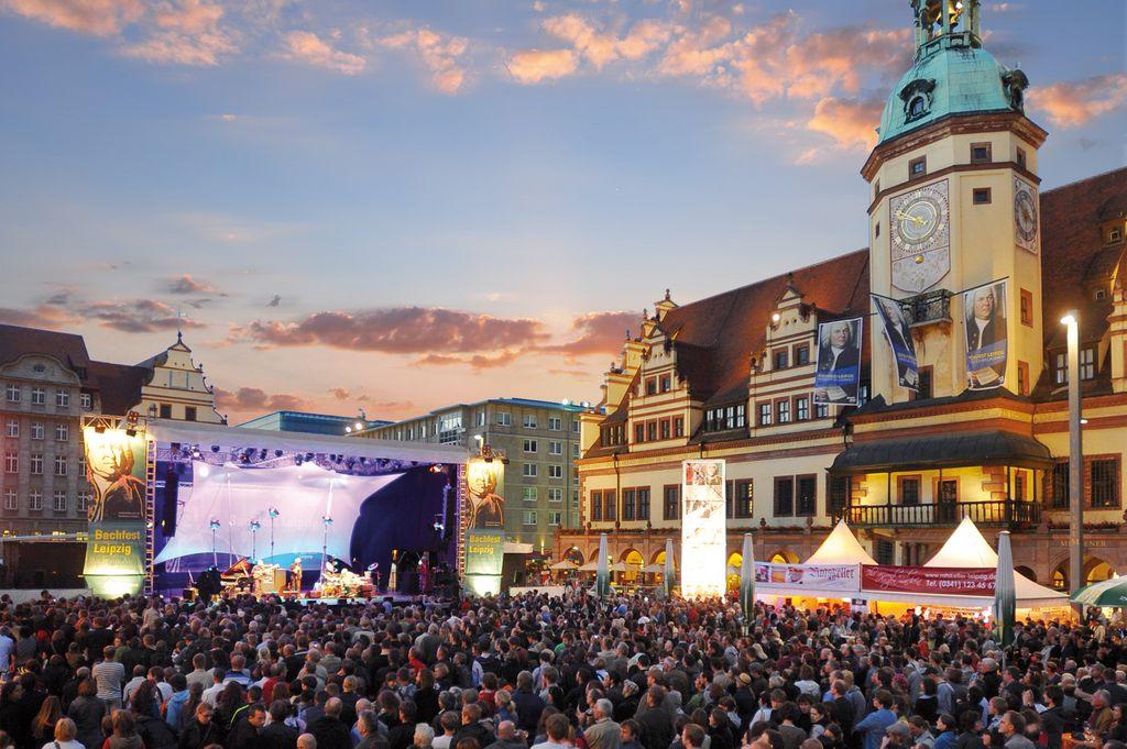 Bachfest a Lipsia, concerto nella Piazza del Mercato
