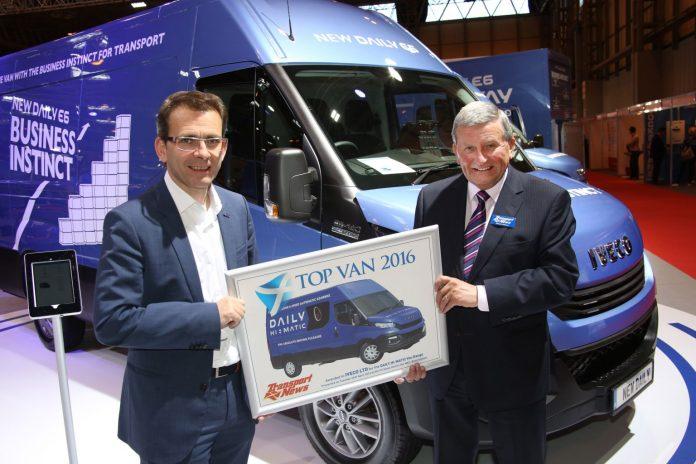 Pierre Lahutte riceve il premio Top Van 2016