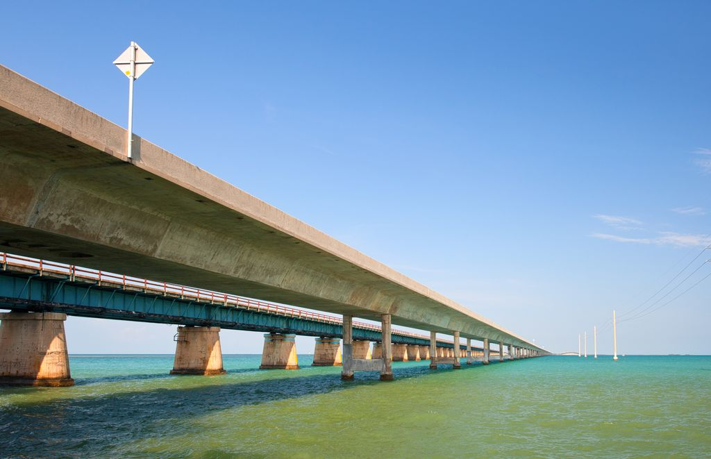 Overseas Highway che collega le Keys alla Florida