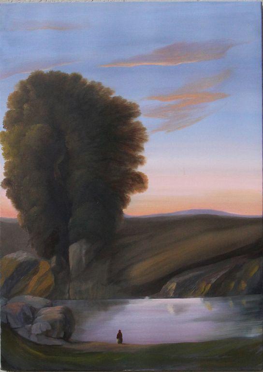 Omaggio a Italo Mussa Ubaldo Bartolini, Lago al tramonto