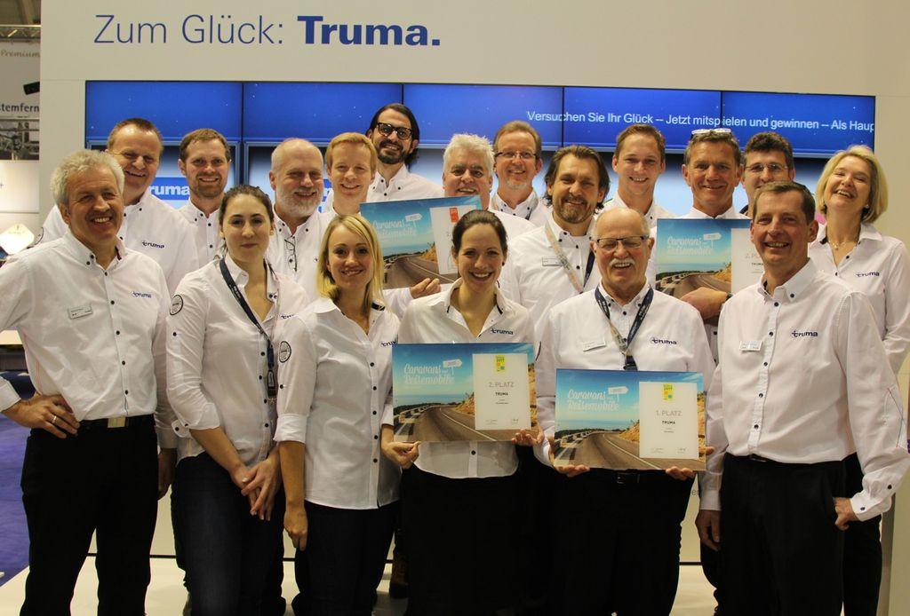 Truma team presso il Salone CMT per il Miglior marchio 2017 Fonte Truma
