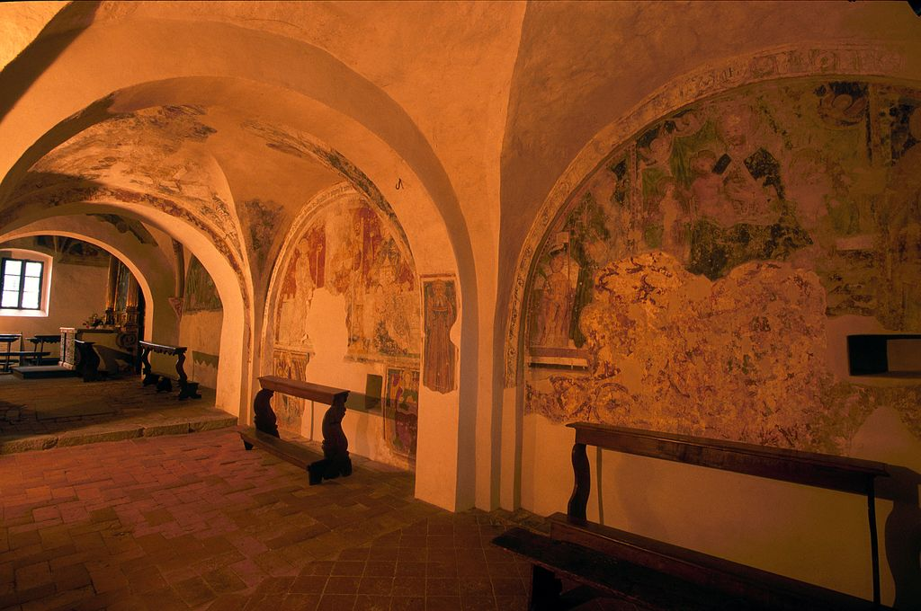 affreschi monastero San Pietro in Lamosa a Provaglio d'Iseo