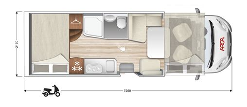 layout arca europa m 725