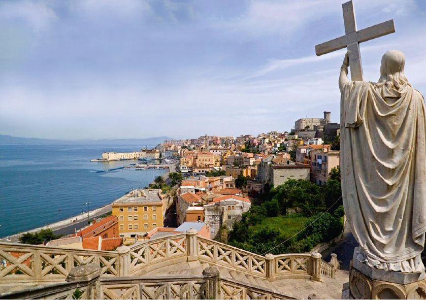 Gaeta medievale vista dalla chiesa di S. Francesco