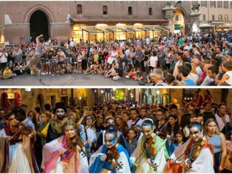 Celebrano 30 anni Ferrara Buskers Festival e Mercantia Certaldo