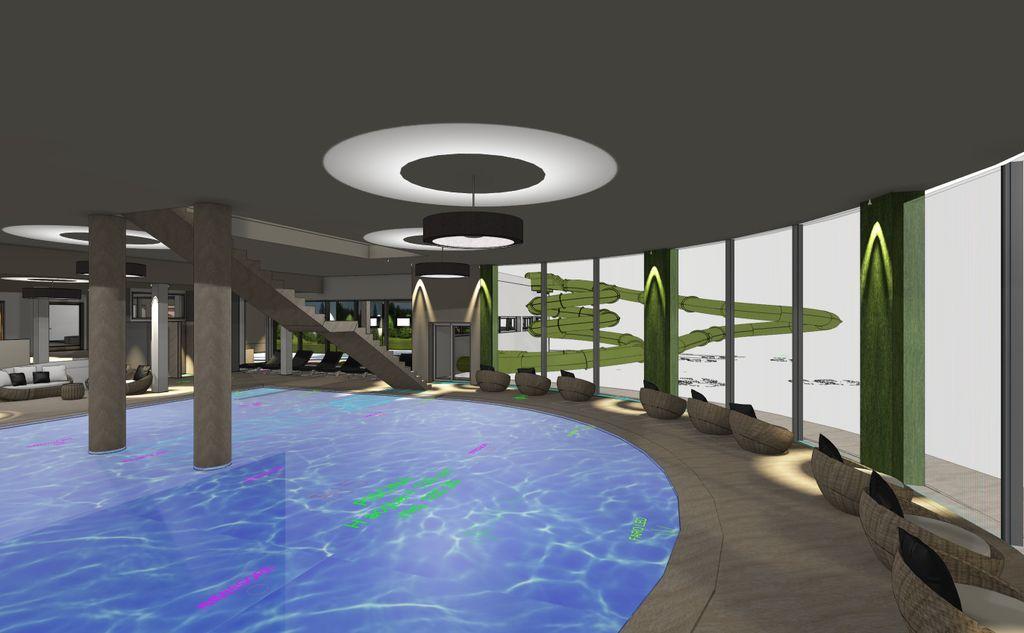 piscina con vista Aquapark