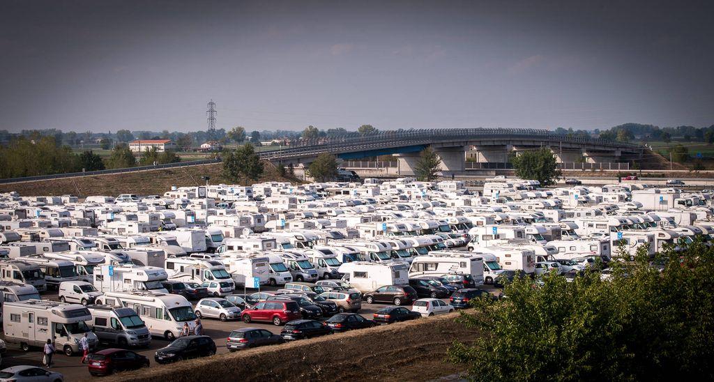 Salone del Camper 2017 parcheggio