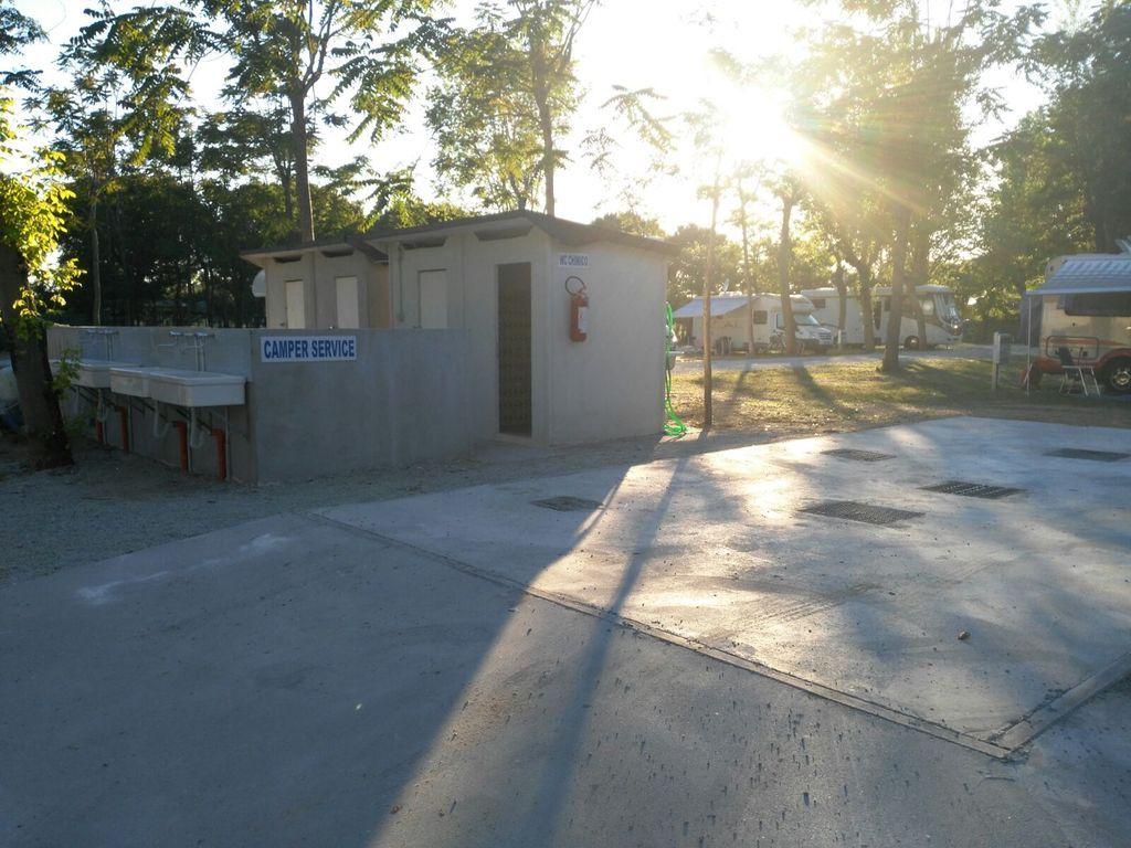 Area camper Cesenatico, camper service