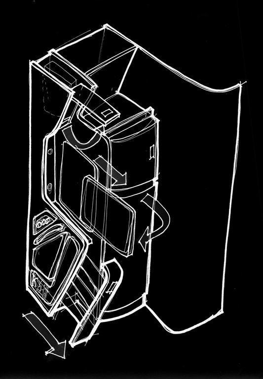 Ingresso: cestello lounge estraibile, rotazione TV 90° e vano apribile per decoder, V-Bag