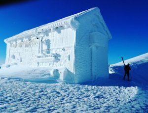 Rifugio di ghiaccio Gran Sasso foto Ivan Argentini, Paolo Boccabella e Emanuele Lattanzi