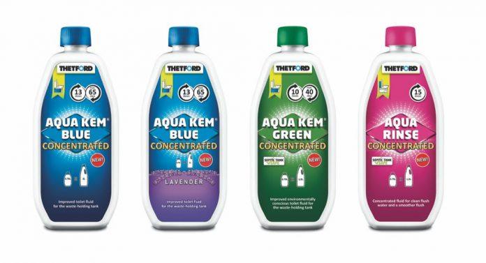 Thetford i nuovi Aqua Kem Green Concentrato e Aqua Rinse Concentrato