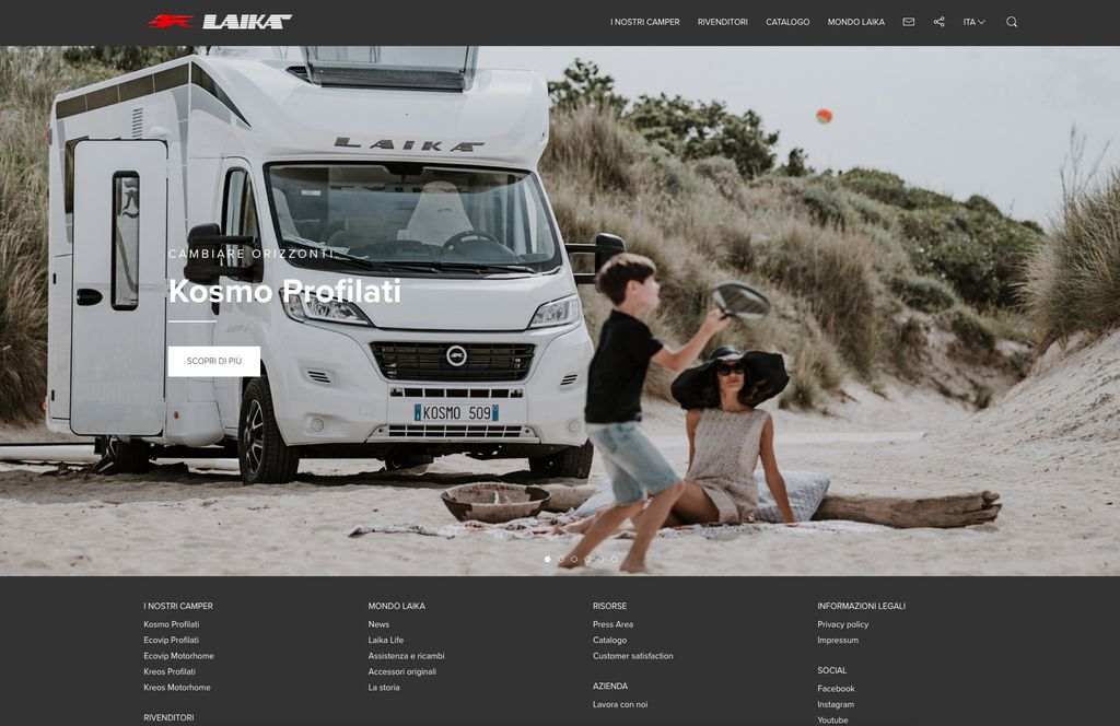 nuovo sito Laika.it homepage