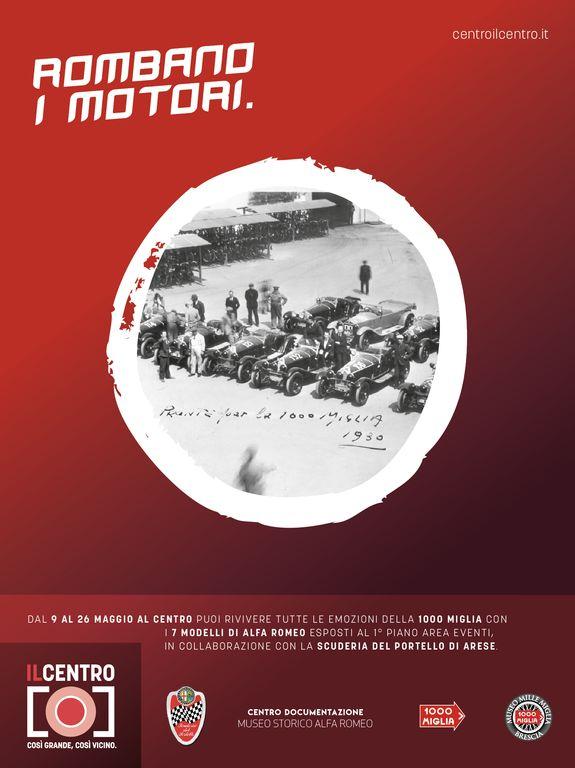La storia di Alfa Romeo e 1000 Miglia a Il Centro di Arese