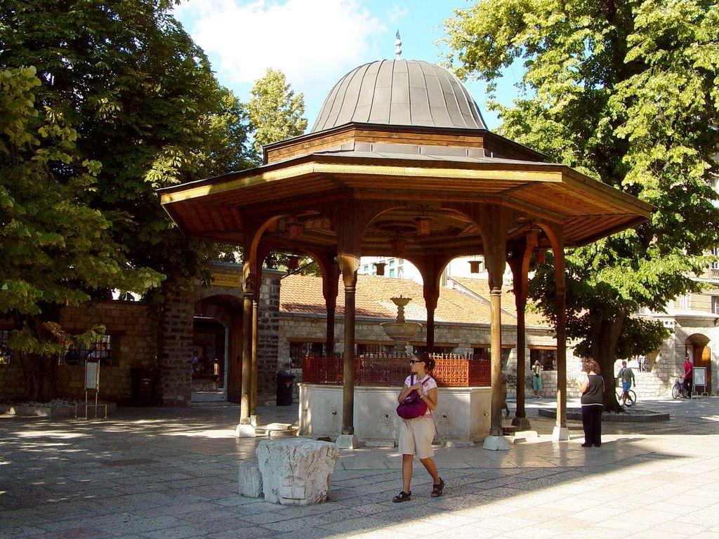 Sarajevo, fontana nella Grande Moschea